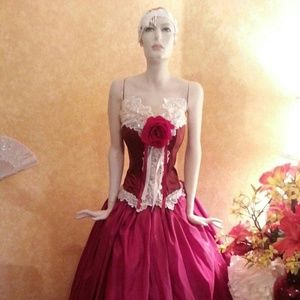 Ruby East Indian Inspired Wedding Ballgown